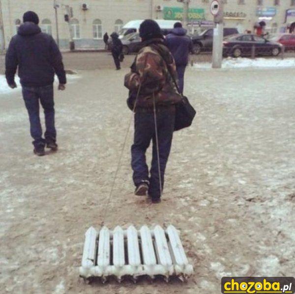 Zimą najlepiej chodzić z grzejnikiem