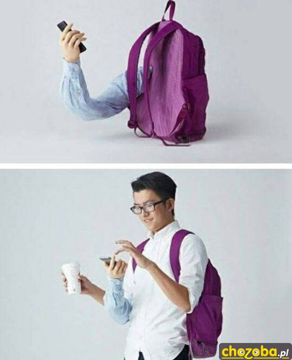 Plecak z ręką