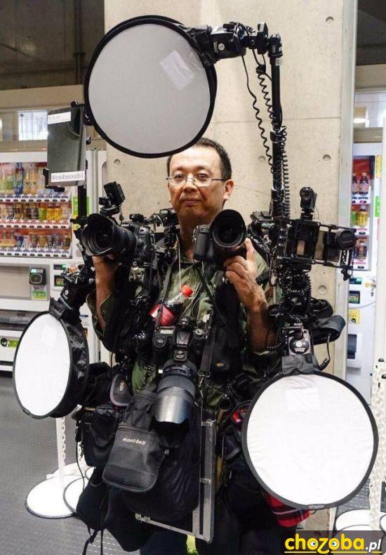 Przygotowany fotograf