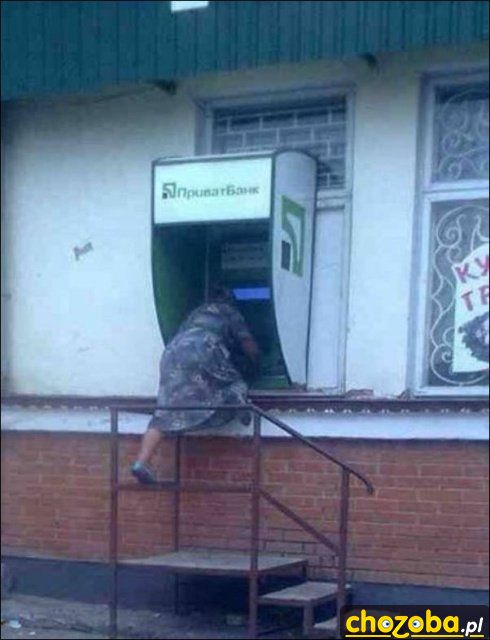 Wysoki bankomat