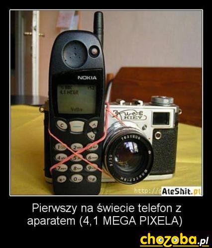 Pierwszy telefon z aparatem