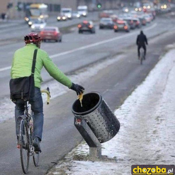 Kosz dla rowerzystów