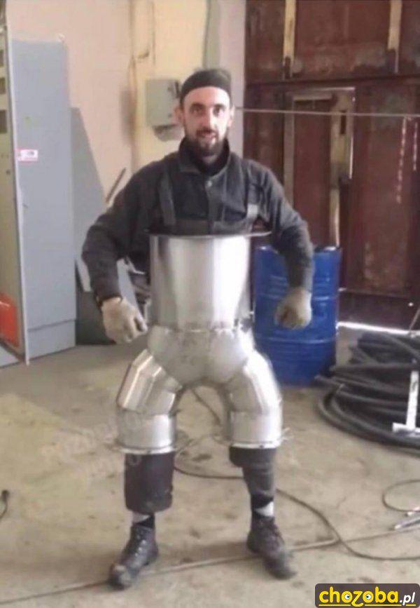 Stalowe spodnie