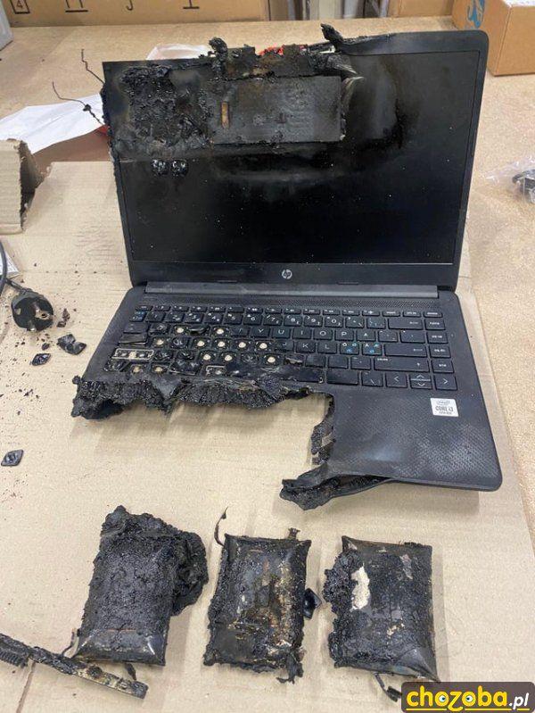Pieczona bateria w laptopie
